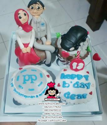 Cupcake Birthday Romantis dan Mobil