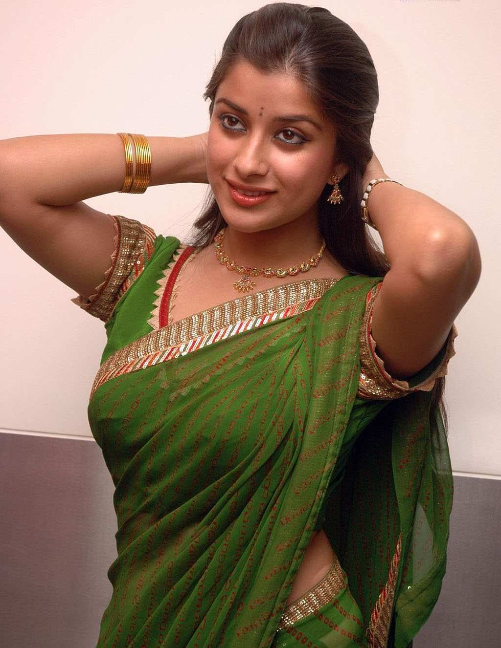 Beautiful indian actress in transparent saree for Indian hot house