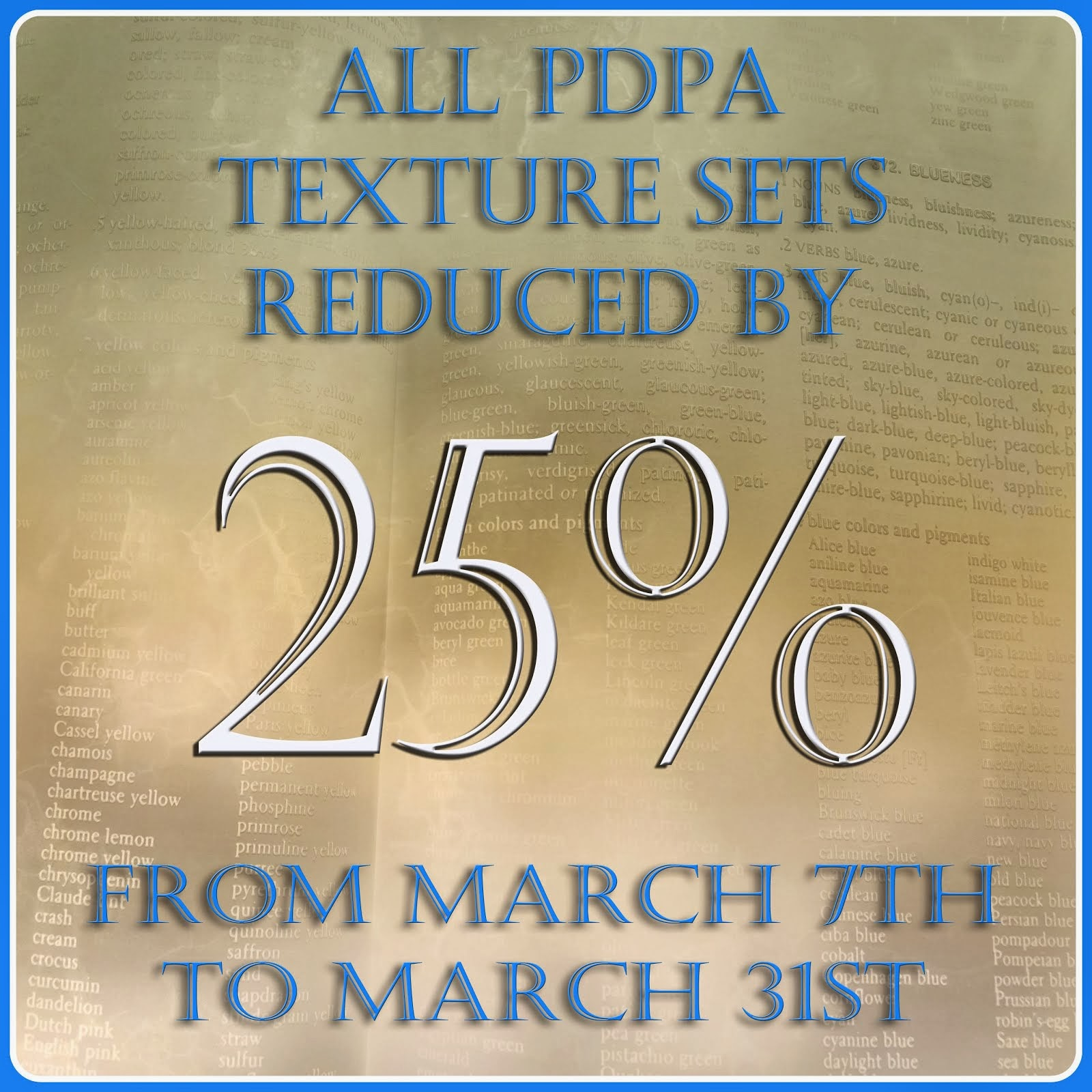 All Texture Sets Discounted
