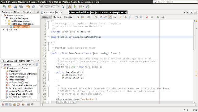 Compilando con NetBeans