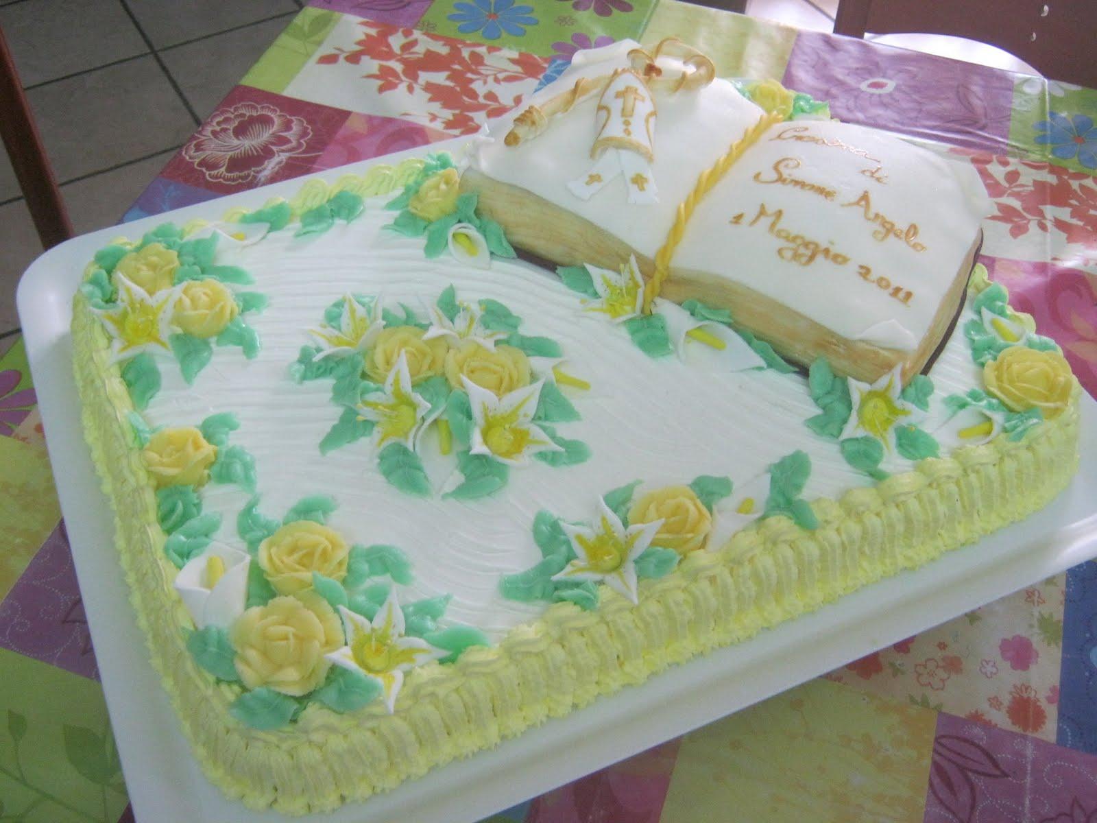 Dolcementemanu torta cresima la seconda for Decorazioni torte per cresima
