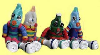 Bonecos de garrafa plástica reciclada - passo a passo