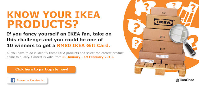  Win RM80 IKEA Gift Card Tips &amp; Hints answer