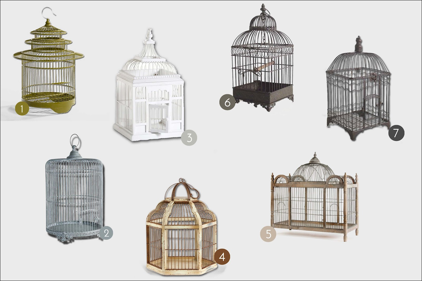 Cage oiseau deco maison du monde for Maison du monde 4 temps