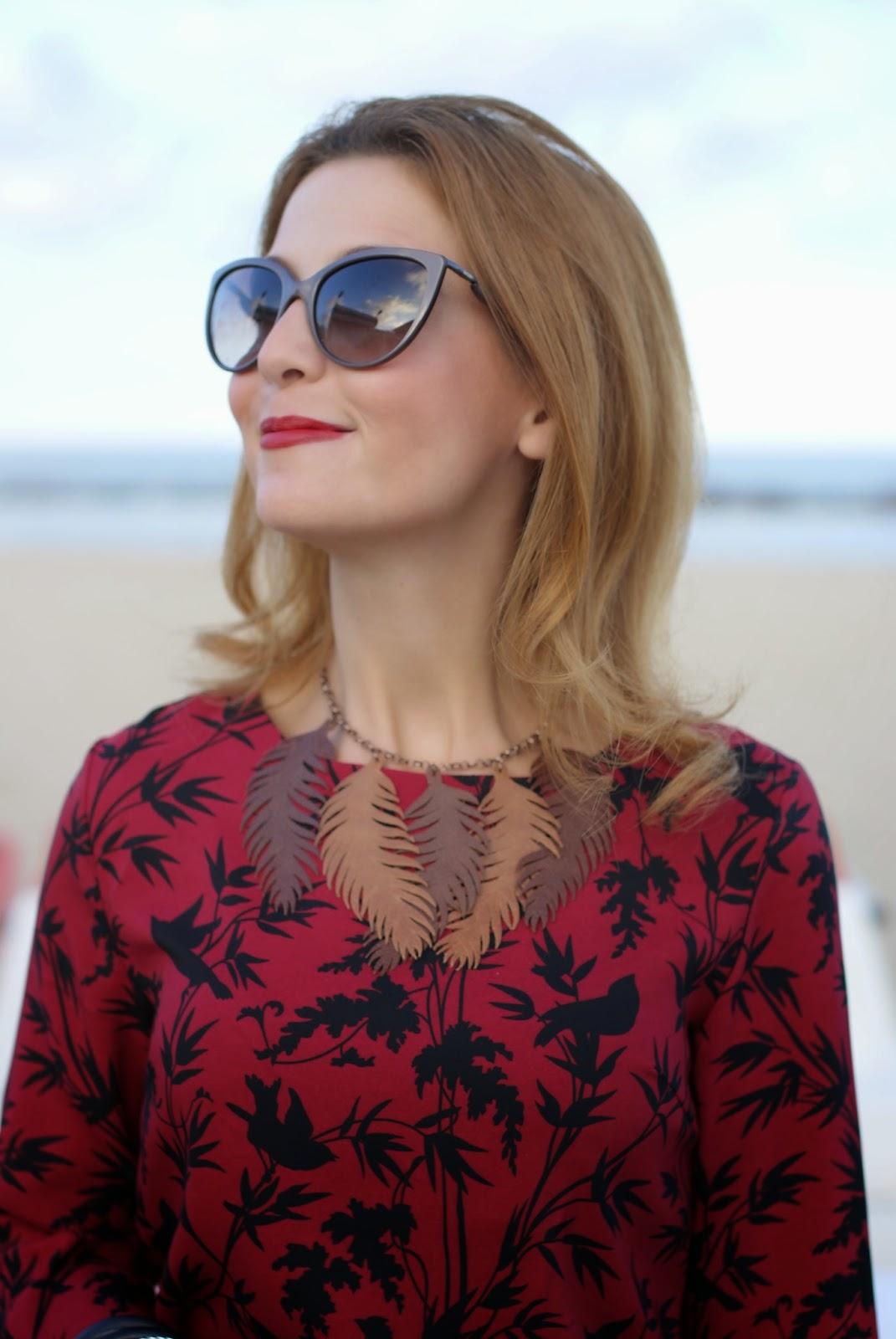 Blackfive bamboo leaves dress, Givenchy Antigona bag, MissFluff necklace, Fashion and Cookies, fashion blogger