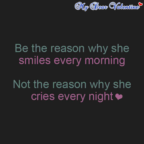 Love quotes be the reason why she smiles every morning - Seven reasons to make the bed every morning ...