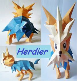 Pokemon Herdier Papercraft