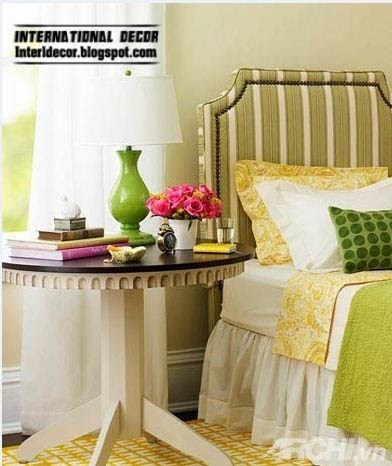 padded headboard, striped headboard, creative headboard designs