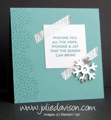 Nov 2014 Simply Snowflake Paper Pumpkin Alternative Card Designs + GIVEAWAY #paperpumpkin #stampinup www.juliedavison.com