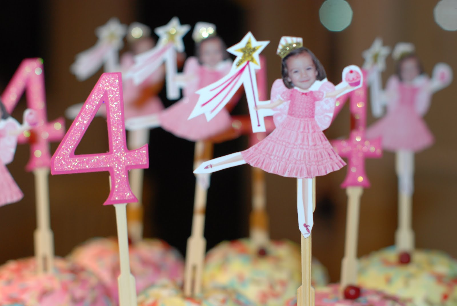 Cake Face Toppers Pinkalicious Cupcake Toppers