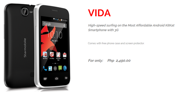 Best Smartphones Under 3K, Starmobile Vida