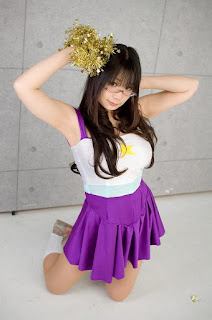 Chocoball Cosplay as Miyuki Takara Cheergirl from Lucky Star