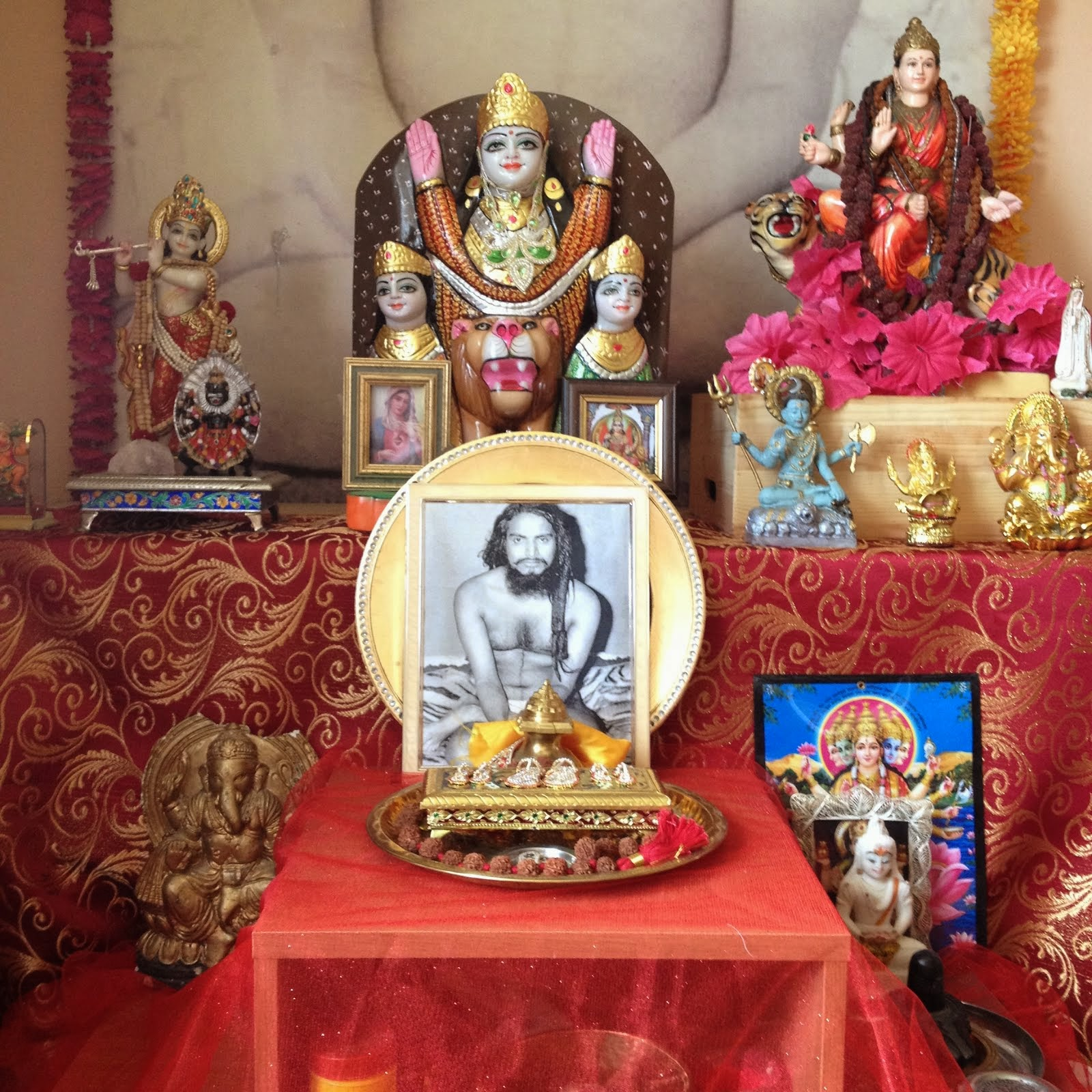 Part of the  puja room