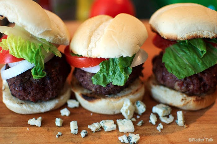 mini-beef burgers laced with bacon and filled with warm Gorgonzola ...