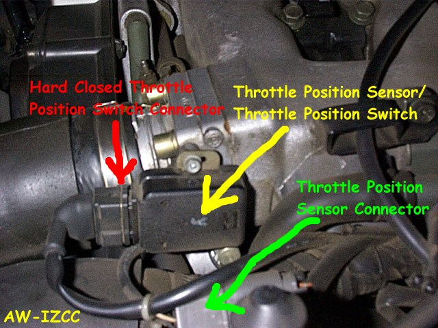 throttle position sensor location 2006 toyota tundra