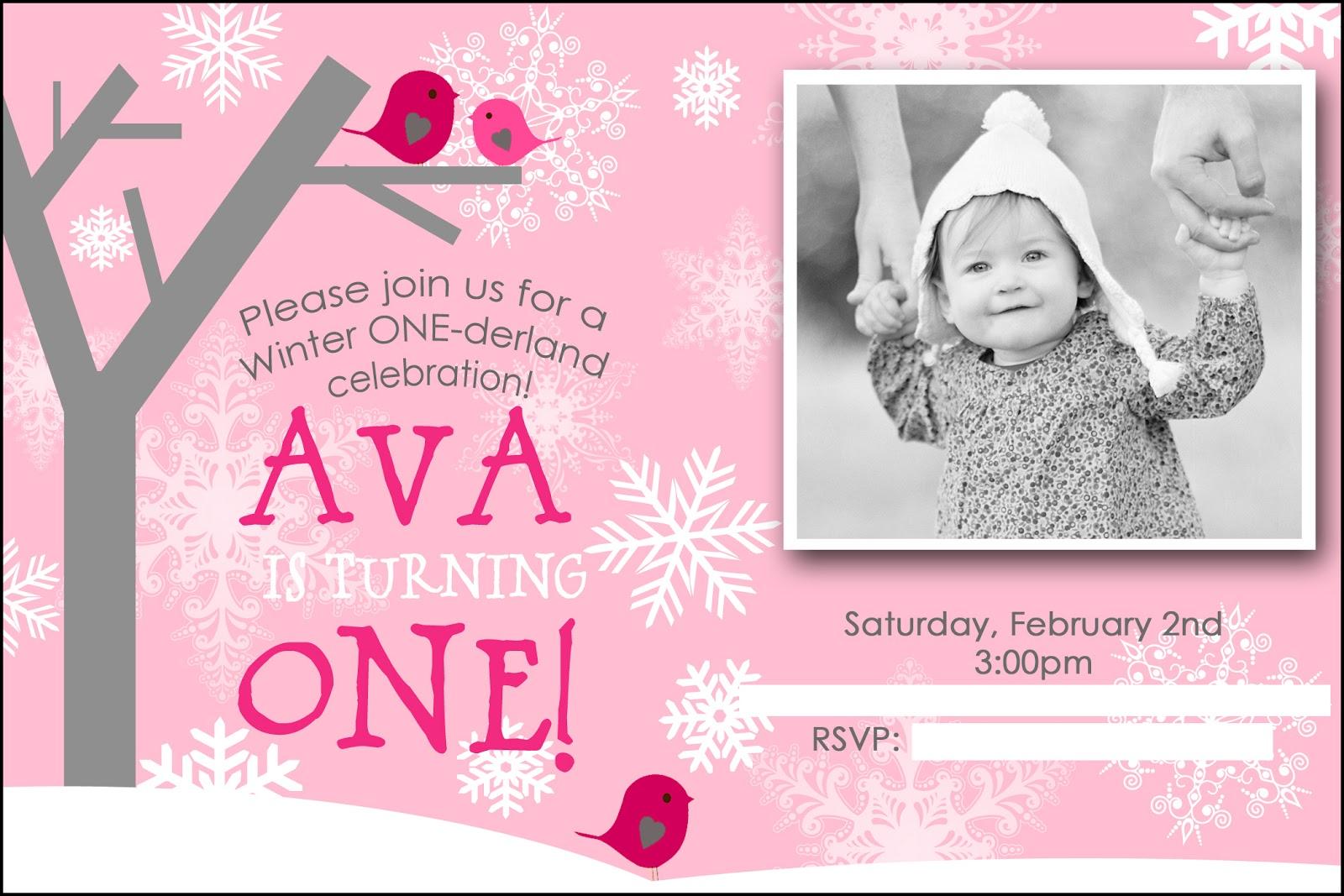 Team Shep Blog: Ava\'s Winter ONEderland Party