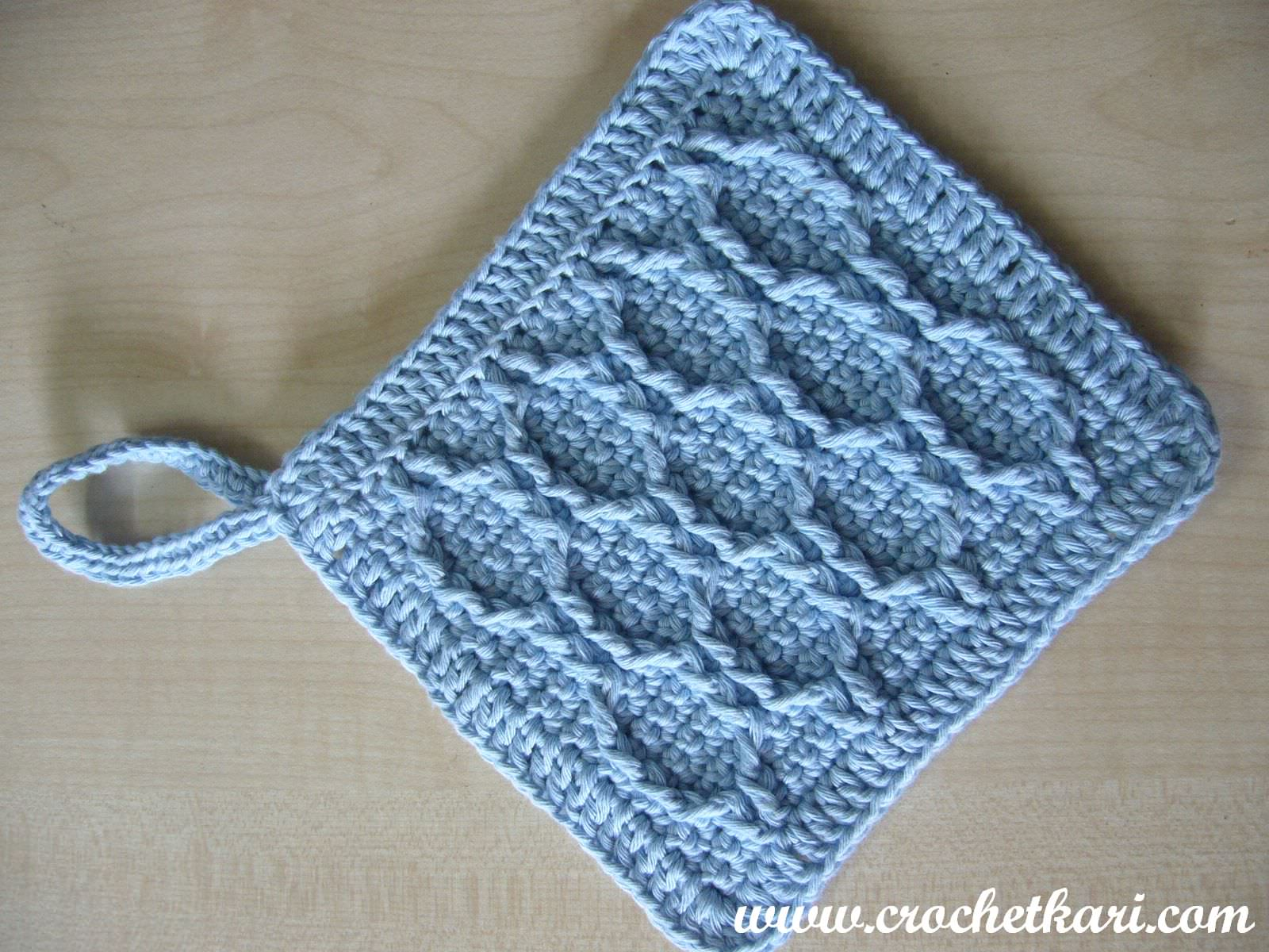 Crochetkari: Crochet Honeycomb Washcloth