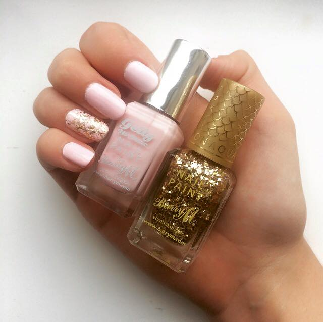 Barry M Treasure Chest and Rose Hip Swatch