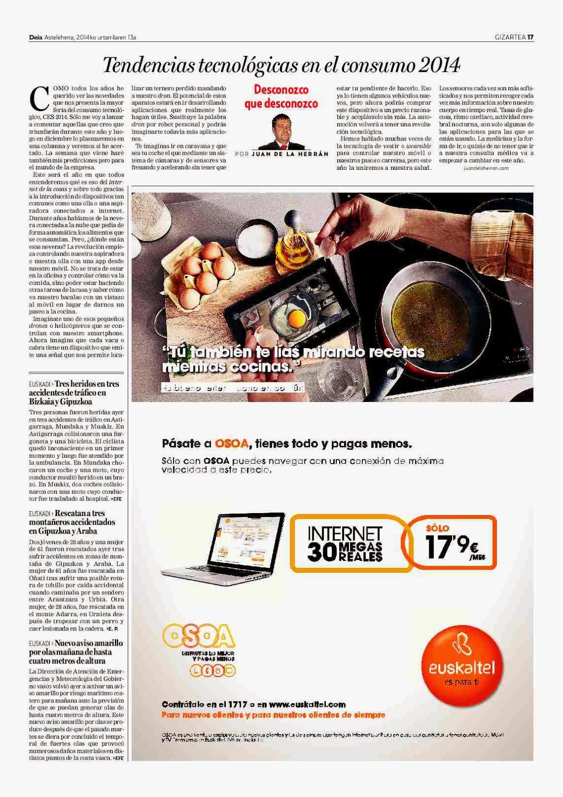 Tendencias tecnológicas en el consumo 2014