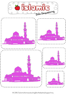 Islamic Size Sequencing Pink Mosque