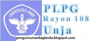 Web resmi panitia Sertifikasi Guru Rayon 108 Universitas Jambi ini