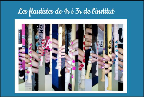 Les flautistes de 1r i 3r de l'Institut