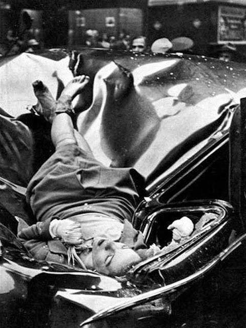 Красивое самоубийство – 23-летняя Эвелин Макхейл спрыгнула с 83-го этажа Эмпайр Стейт Билдинг, приземлившись прямо на лимузин организации Объединенных Наций, 1947 г.