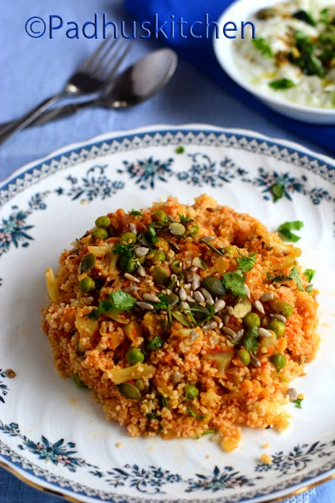 Couscous with Cauliflower,Peas
