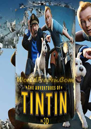 Poster Of The Adventures of Tintin 2011 In Hindi Bluray 720P Free Download