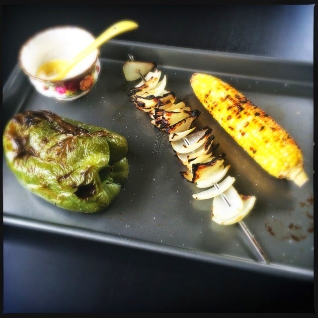 Grilled veggies, the best! The Graffitied Gardenia