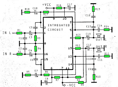 STK4389 amplifier circuit