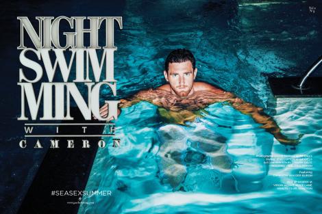 Swimmer Cameron van der Burgh in Gaschette Magazine No.2