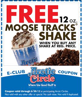 Arctic Circle coupons Utah June 2012