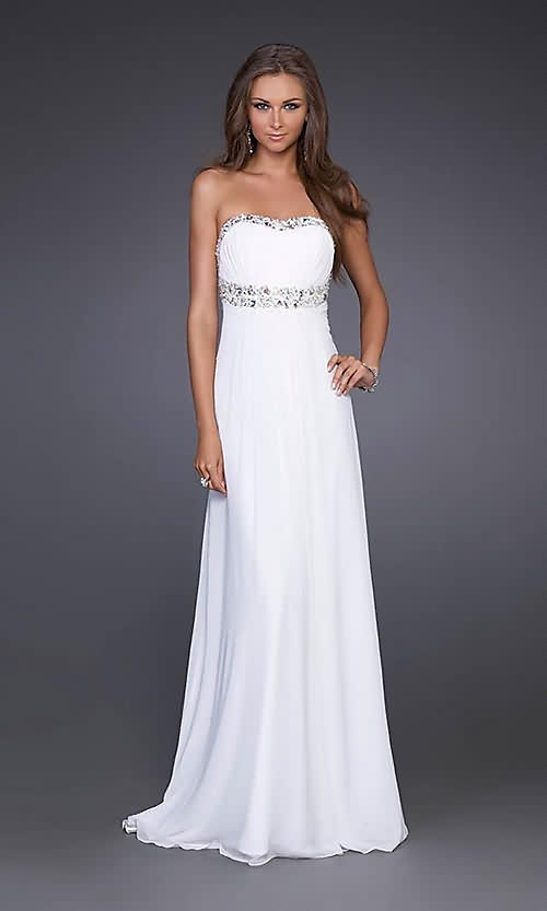 Robe soiree blanche longue