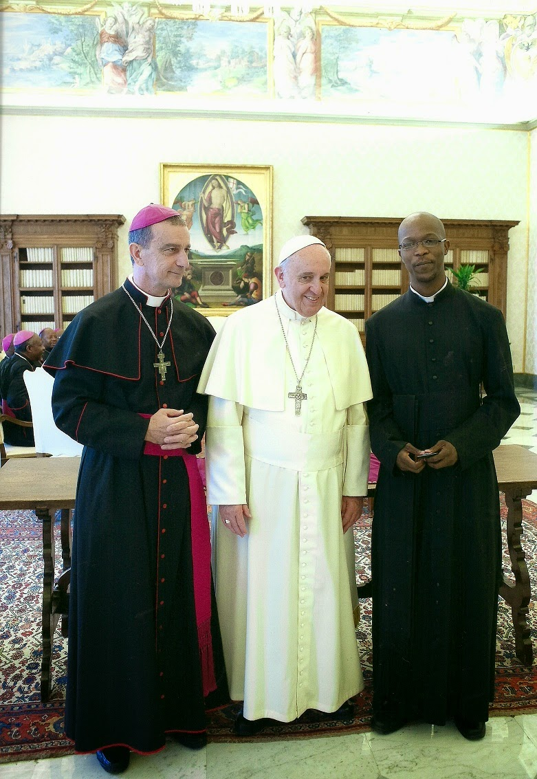 Tzaneen catholic a day to remember 25 april 2014 with pope francis just before the official meeting of the group of bishops with pope francisfr andrew shingange who accompanied bishop joao rodrigues to the upper room had m4hsunfo