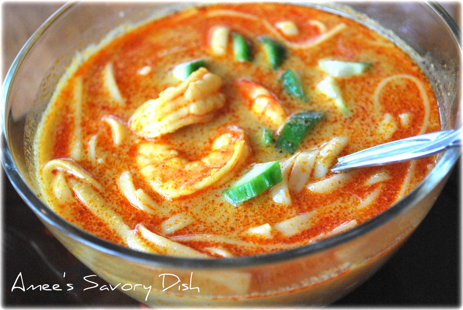 Thai Shrimp Coconut Curry Soup- Amee's Savory Dish