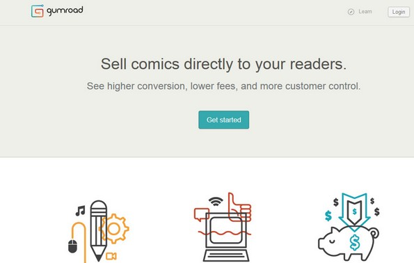 Gumroad for selling products