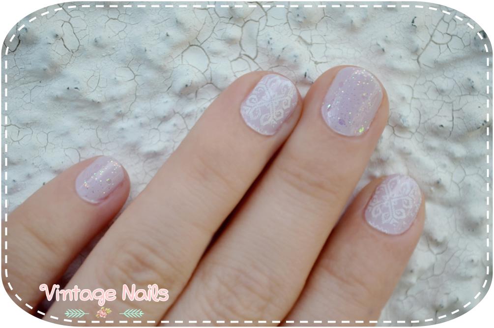 nail art, manicure, manicura, winter nail art, MoYou, Deborah Milano, Bourjois, vintage nails