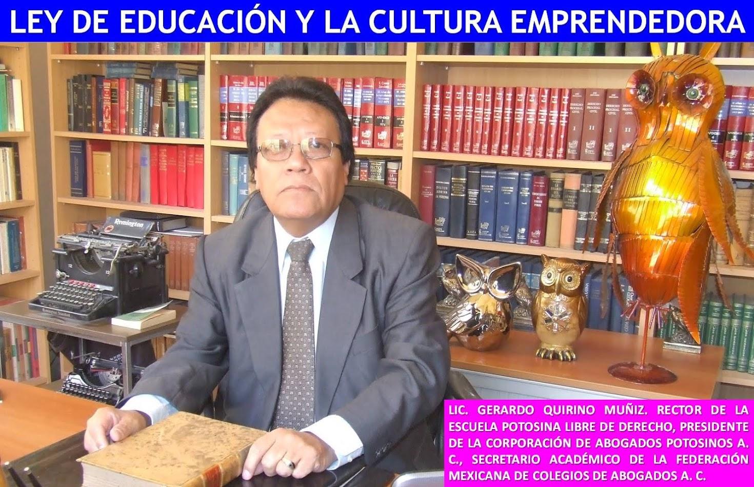 EDITORIAL DEL LIC. GERARDO QUIRINO MUÑOZ.