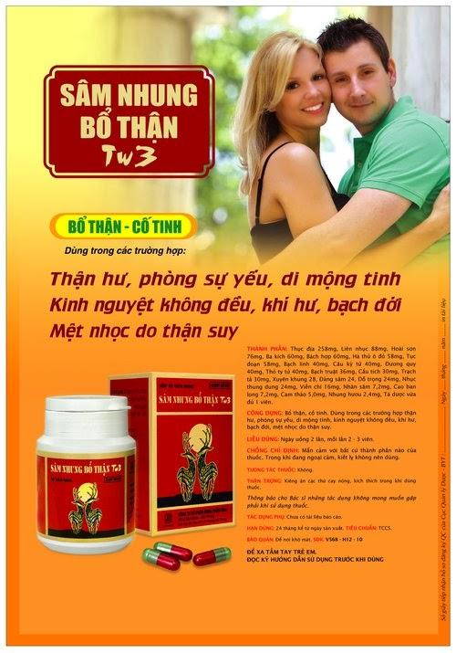 Sâm nhung bổ thận tw3 chữa bệnh yếu sinh lý 1