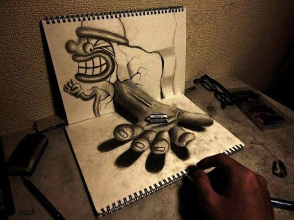 Dibujando en vivo - Página 2 Dibujos-3d-nagai-hideyuki-12