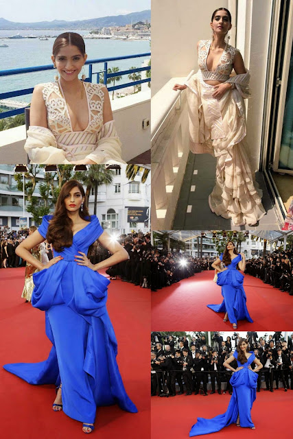 Cannes 2015: Sonam Kapoor Dazzling in Blue Dress