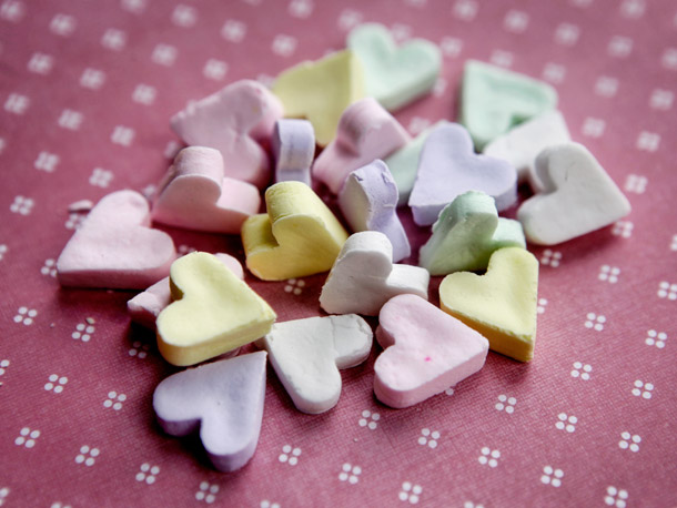 ... conversation hearts? Get the recipe of homemade conversation hearts