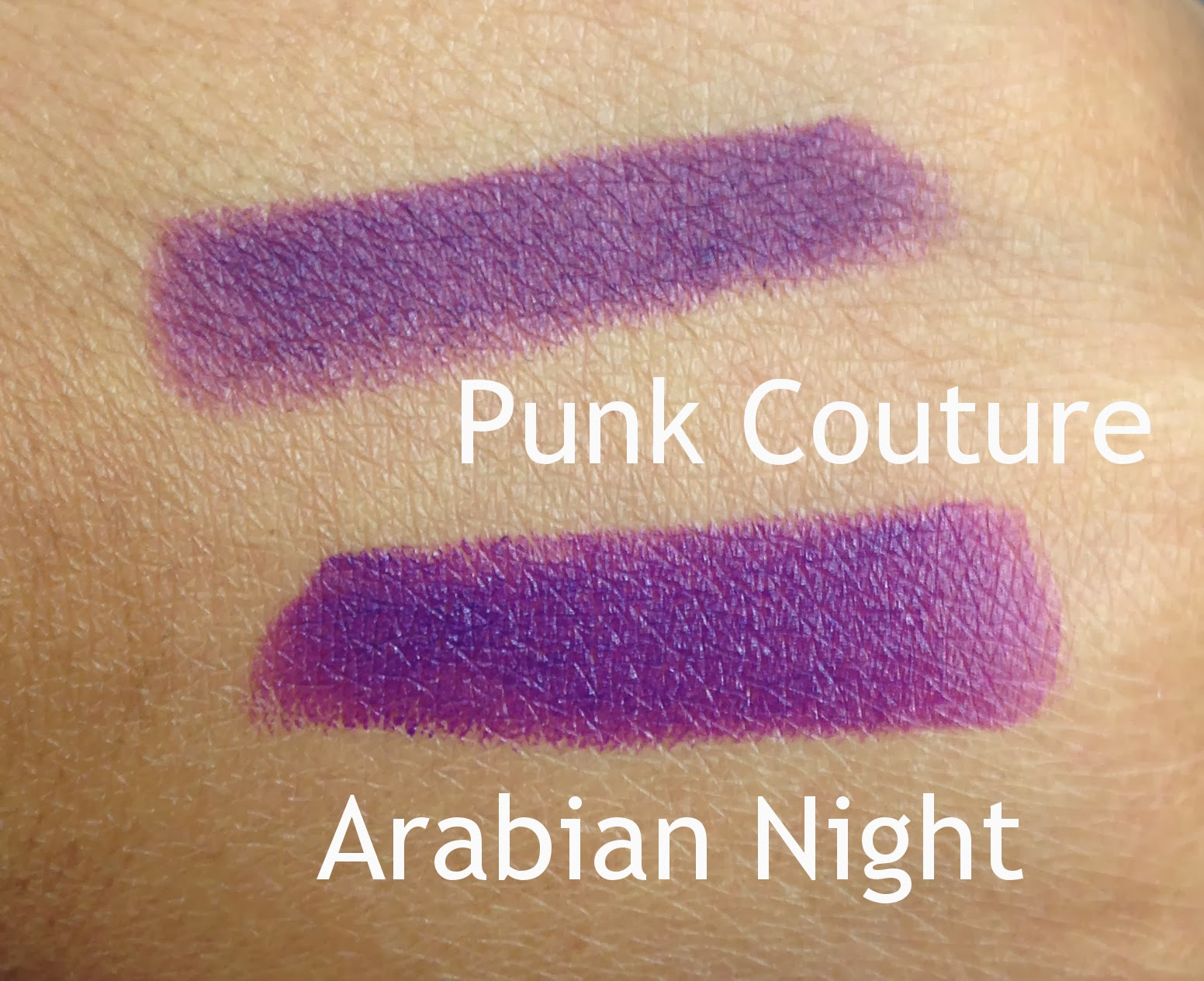 punk couture arabian night swatches dupes