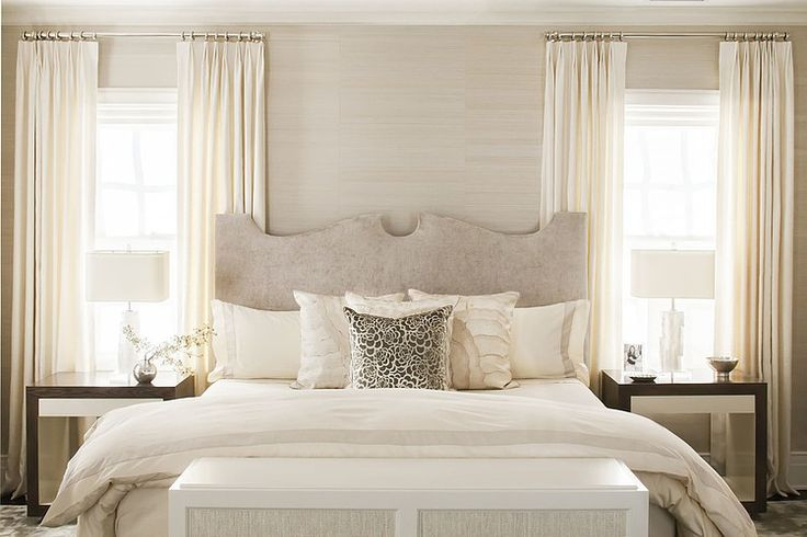 ... Time Outside The Bedroom But I Am Still Dreaming About How Wonderful It  Will Be To One Night Go To Bed In A Dreamy Grasscloth Covered Space Like  These.