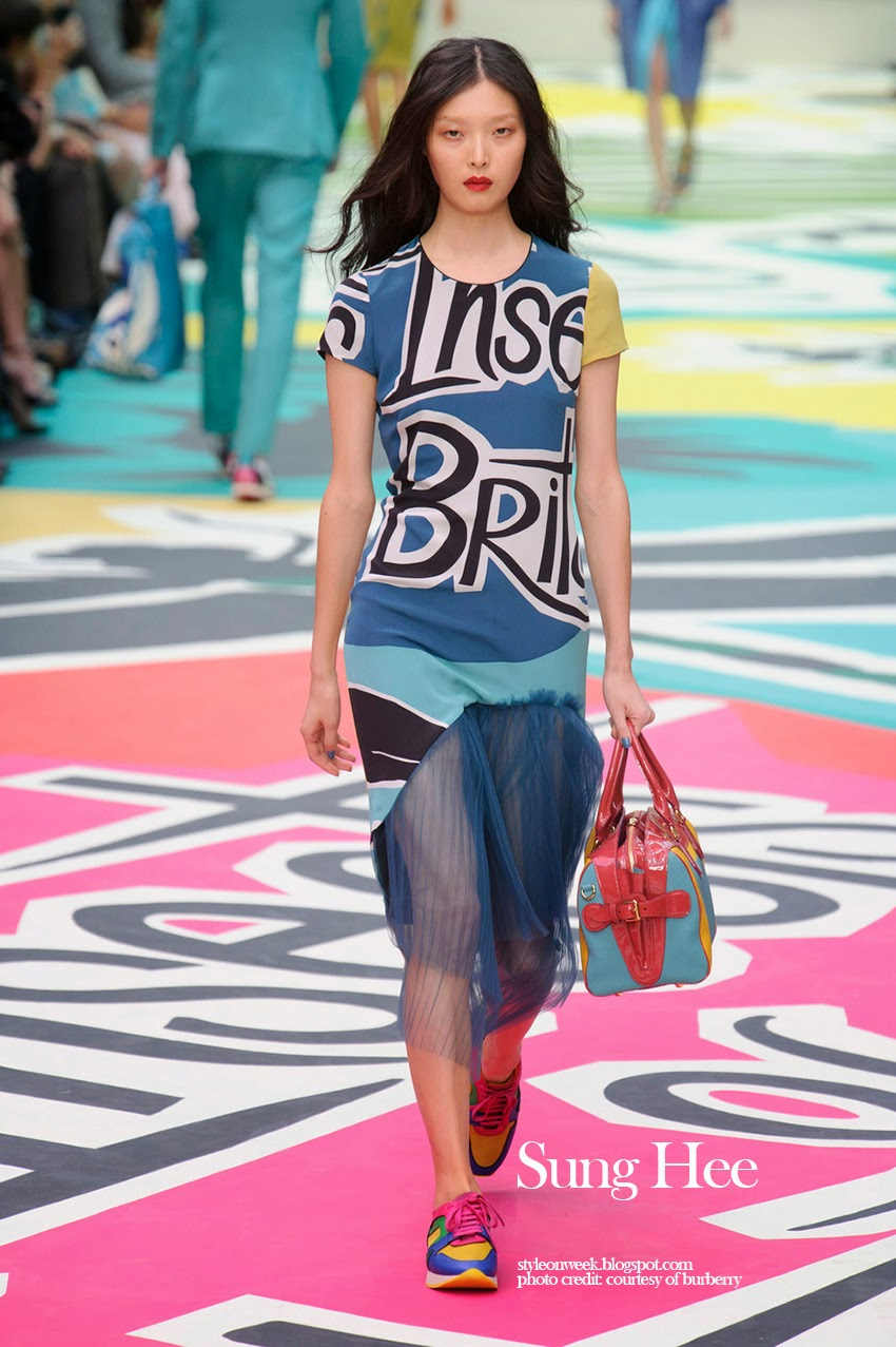 Sung Hee at Burberry Prorsum Womenswear Spring-Summer 2015 Collection Look