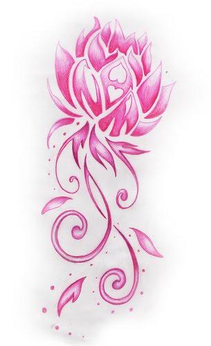 flower tattoos. Black Bedroom Furniture Sets. Home Design Ideas