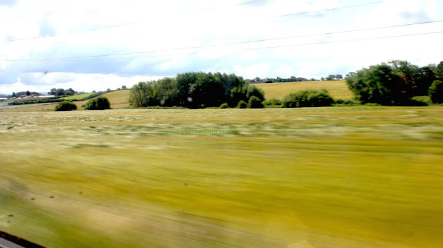 motion blur en route to Blackpool beach