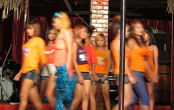 Modeling in Yangon's nightlife scene
