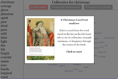 http://blog.oxforddictionaries.com/text-analyser/charles-dickens/a-christmas-carol-text-analyser/